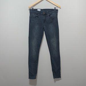 GAP Legging Jeans Gray Mid Rise Skinny Stretch